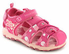New Younger Girls/Childrens Pink Touch Fastening Adventure Sandals. UK SIZES