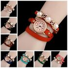 8Colors Women Luxury Watches Vintage Multilayer Hollow link Bracelet Wrist Watch