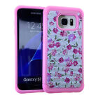 Armor Hybrid Silicone Cover Case for Samsung Galaxy S7 Edge - Rhinestone