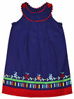 Girls Baby Floral Purple Dress New Kids 100% Cotton Pinafore Dresses 6-24 Months