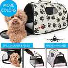 Airline Approved Folding Zippered Sporty Cage Travel Pet Dog Carrier bag