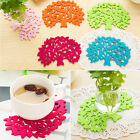 SH US Cute Felt Coasters Tree Modeling Cup Mat Insulation Pad Placemats Table