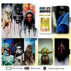 Galaxy Note 8 S9 Plus S7 Case Star War Print Wallet Leather Cover for Samsung $13.99 AUD on eBay