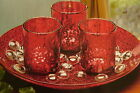 New 5 Piece Round Candle Garden Set Red By Lindsay Jordon