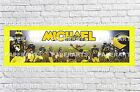 Personalized Michigan Wolverines Name Poster with Border Mat Sports Art Banner