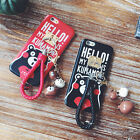 Cartoon Cute Kumamon Pendant Keychain Strap soft Case Cover for iPhone 6 6s plus