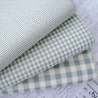 VINTAGE AIRFORCE BLUE - VINTAGE KENT 2 YARN DYED GINGHAM - COTTON FABRIC