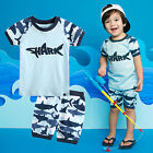 "Vaenait Baby Kids Girls Boys Clothes Short Pyjama Outfit set ""Shark Boy"" 12M-7T"