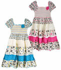 Girls Summer Gypsy Dress New Kids Floral Aztec Cotton Sundress Ages 2-10 Years