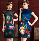 New Style Velvet Party Dress Cocktail Evening Dress Cheongsam Qipao F60-056#