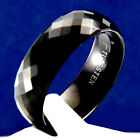 New Black Tungsten Carbide Ring Men's Wedding Band