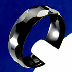 Black Tungsten Carbide Ring Mens Wedding Band