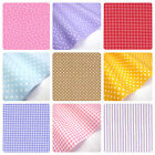 BLENDERS 100% COTTON FABRIC GINGHAM STARS SPOTS STRIPES QUILTING PATCHWORK