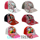 Girls Hello Kitty Minnie Mouse Branded Kids Summer Baseball Cap Cotton Sun Hat