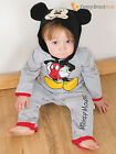 Disney Baby Mickey Mouse All in One Onesie + Hood Toddler Fancy Dress Costume