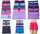 Plus Size Lot 1 6 12 Plain Stripe Adult SEAMLESS Boyshorts Panty XL/2XL/3XL