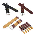 Watch Band Replacement Genuine Leather Strap Buckle Belt Bracelet 18-26 mm