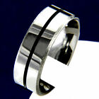 Silver Polished Tungsten Carbide Mans Wedding Band Engagement Bridal Ring