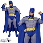 Adults Mens Classic Batman Comic Book DC Retro Superhero TV Fancy Dress Costume