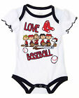 MLB Infants Boston Red Sox Peanuts Love Baseball Creeper, White