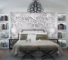 Luxury Silver Gray & Gold Glitter Strip Non-Woven Feature 3D Embossed Wallpaper