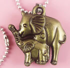 P050 Acrylic pendant iron or Stainless Steel chain you pick elephant new