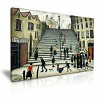 L.S. Lowry Steps at Wick Modern Canvas Wall Art Print More Sizes