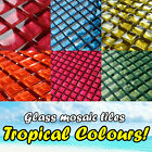 Glass mosaic tiles 6 AMAZING TROPICAL COLOURS - best glass mosaic sheets