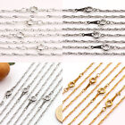 Hot 2/10Pcs Nice Necklace Gold/Silver/White Chain Round Clasp Jewelry Making