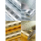 Luxury Glitter Gold Foil Textured Embossed Wallpaper Roll - Golden & Silver