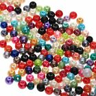 Wholesale 200Pcs Mix Colour 4/6/8/10/12/14mm Round Pearl Czech Glass Loose Beads