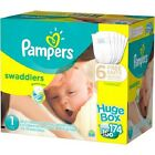 Best Diapers, Pampers Swaddlers Diapers, Huge Box, (Choose Your Size)