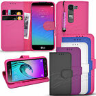 For LG Spirit H440N-Wallet Leather Case Flip Cover Book +  Mini Touch Stylus