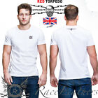 RED TORPEDO GUY MARTIN RT CREST MENS CASUAL T-SHIRT WHITE