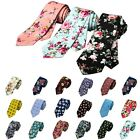 Narrow Skinny Necktie Neck Tie Floral Flower Moderator Party Tie 35 Colors Gift