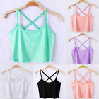 Women New Design Tank Tops Cami Sleeveless T-Shirt Summer Vest Crop Top Blouse