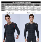 Sports Men Compression Thermal Base Layer Training Fitness Gym Tights Shirts Top
