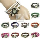 New Women Casual Leather Stainless  Watches Bracelet Wristwatches Adjustable