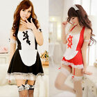 Hot Sexy Women's Lingerie Adult French Maid Costume Fetish Role Play Seductive