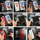 Luxury Magnet Flip Wallet Bumper Cover Case For SmartPhone Apple Samsung LG Sony