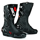 SIDI COBRA BLACK MOTORCYCLE MOTORBIKE SPORTS RACE BIKE BOOTS WITH CLOSABLE VENTS