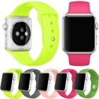 Sports Silicone Bracelet Strap Band + Screen Protector For Apple Watch 38/42mm