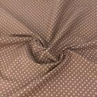 TAUPE BROWN colour POLKA DOT 100% cotton fabric  per FQ, half metre or metre