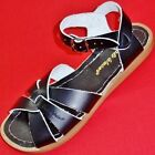 NEW Girl's Youth Black SALT WATER Leather Summer Fashion Casual Sandals Shoes