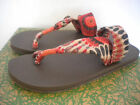 SANUK SLING IT ON Print~Yoga Mat Toe loop Sandals~Melon pinwheel~SWS10672 NEW