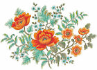 Ceramic Decals Orange Poppy Poppies Floral Single Bunch image