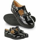 NEW LADIES WOMENS GIRLS SCHOOL SHOES CUT OUT CHUNKY GEEK DOLLY WORK PUMPS SIZE