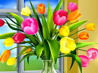 D3637 Colorful Tulips Vase Art Gigantic Print POSTER