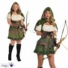 Ladies Womens Sexy Robin Hood Fairytale Book Medieval Fancy Dress Costume Outfit