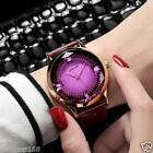 Fashion Women's Dress Watch Ladies Leather Diamond Analog Quartz Wrist Watches